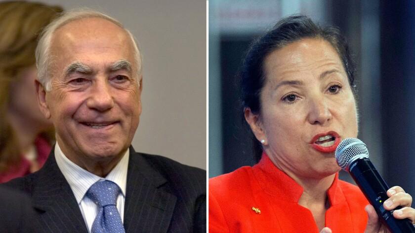 Eleni Kounalakis, right, bid to become California lieutenant governor has received a $2.02 million b