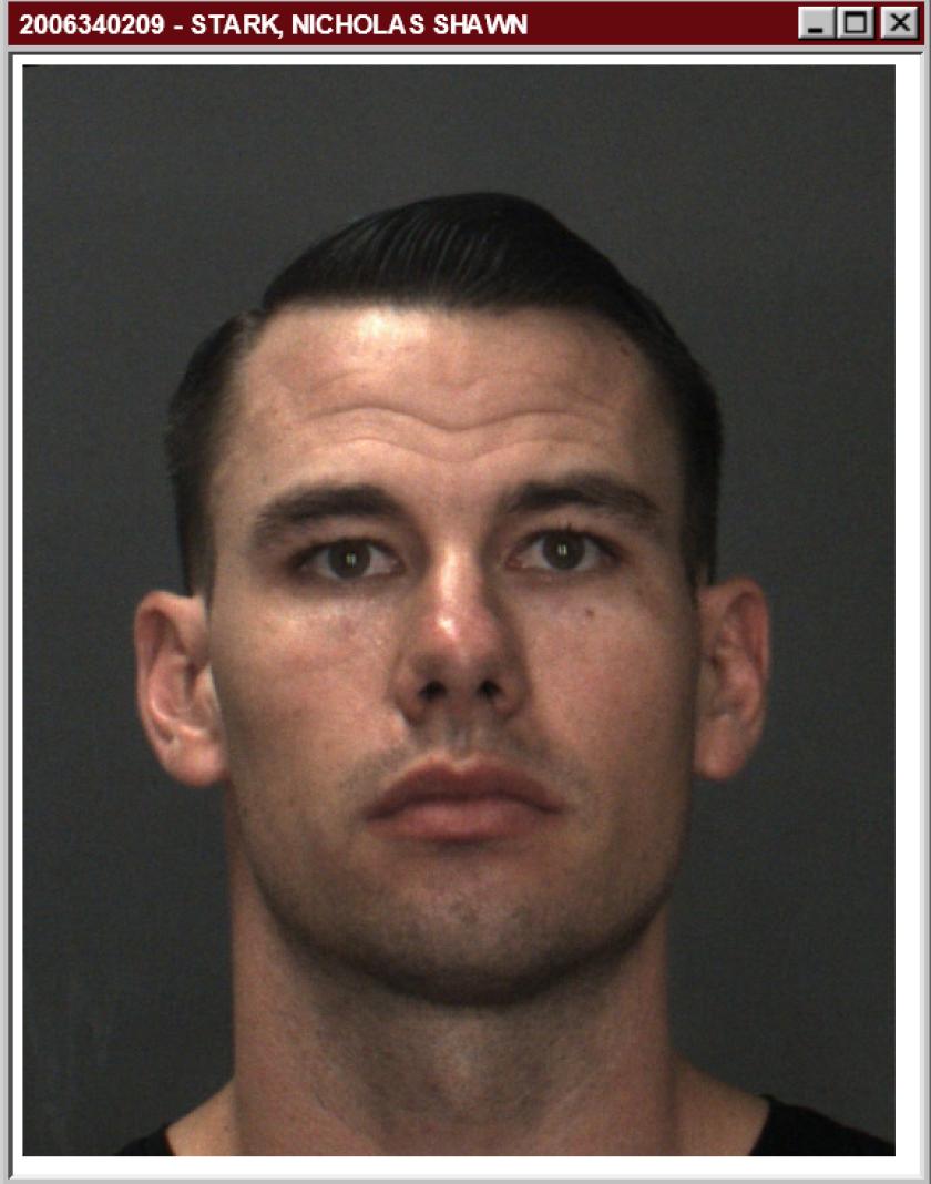 Nicholas Shawn Stark, 28, of Fontana was arrested last week.