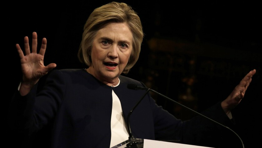 Hillary Clinton speaks at a fundraising breakfast April 29 in New York.