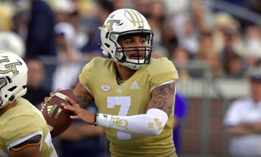 Former Georgia Tech quarterback Lucas Johnson is coming to San Diego State as a graduate transfer with two years of eligibility remaining.