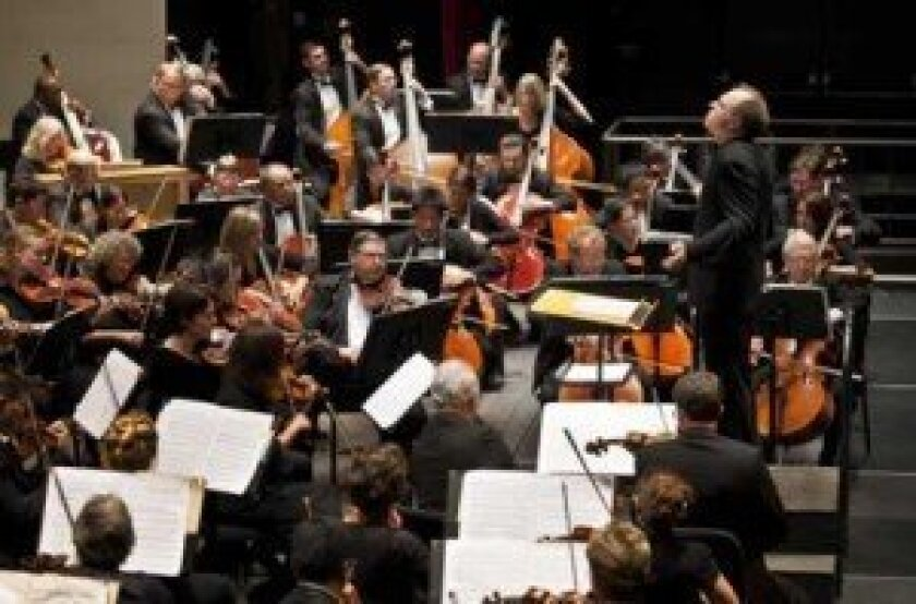 Steve Schick conducts the La Jolla Symphony & Chorus. Courtesy