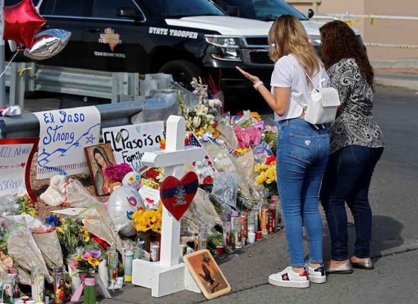 Trump condemns white supremacists, blames culture of violence for shootings