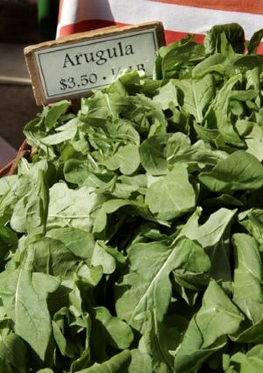 SPICY: Arugula is a green with a bite.