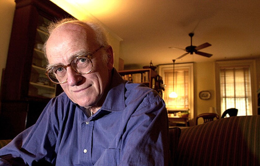 Donald Westlake, shown in 2001, wrote under a variety of pseudonyms including Richard Stark, Tucker Coe, Samuel Holt and Edwin West, in part because he wrote so much, so fast.