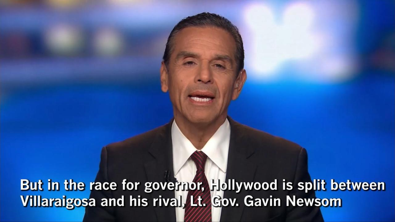 Hollywood Picks Gavin Newsom Over Antonio Villaraigosa In