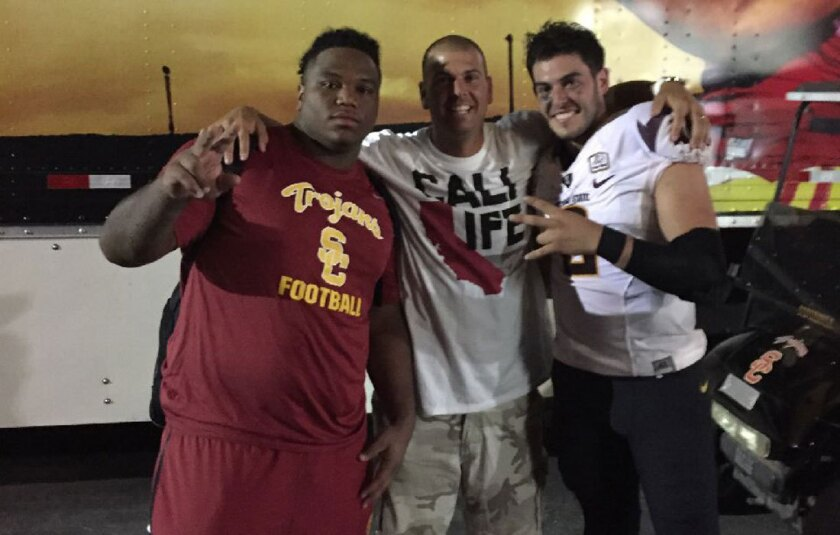Antwaun Woods of USC, Michael Bercovici of ASU and Matt Kerstetter