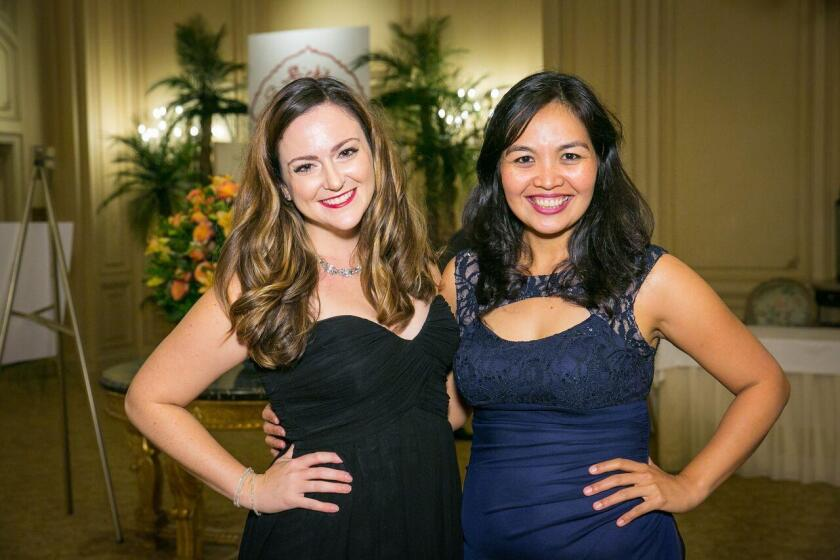 Past and present Young Artist Competition winners, soprano Eden Tremayne (2018) and pianist Ines Irawati (2005)