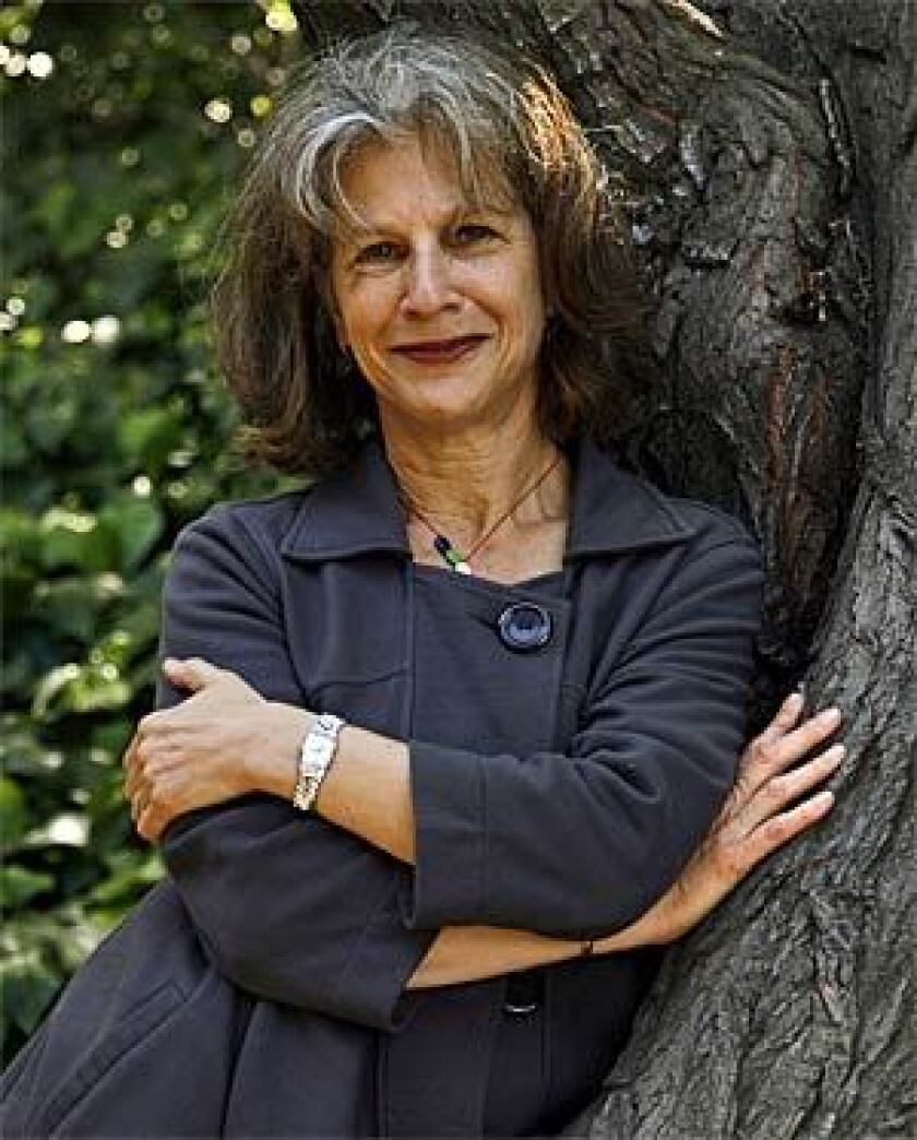 Louise Steinman, author of THE SOUVENIR: A Daughter Discovers Her Father's War, at her Los Angeles, Ca. home. Steinman is also the cultural programs director with the Library Foundation of Los Angeles.