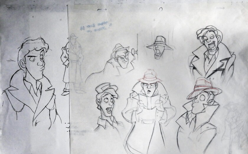 "Merghart's sketches of Jude, the hero of ""Strawberry Fields."""