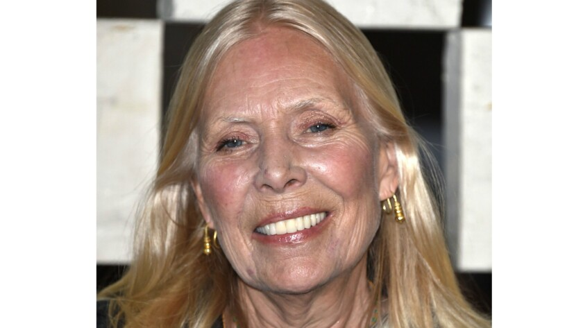 Joni Mitchell attends an event at the Hammer Museum in Westwood in October 2014.