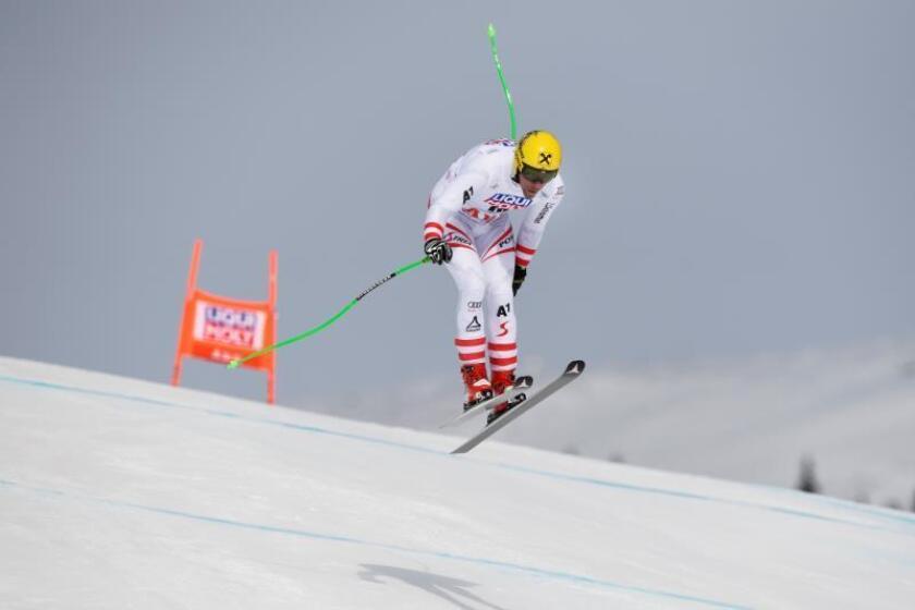 El austriaco Max Franz, segundo en la Copa del Mundo de esquí alpino -a 42 puntos de su compatriota el séptuple ganador Marcel Hirscher-. EFE/Archivo