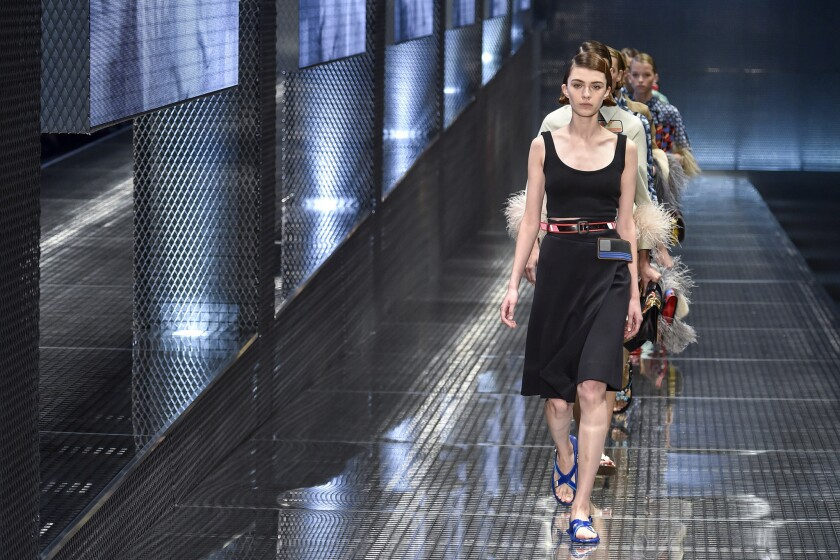 Looks from Prada's spring 2017 collection.