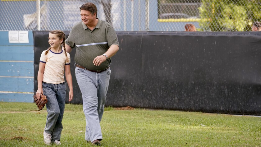 """Raegan Revord and Lance Barber in """"Young Sheldon"""" on CBS."""