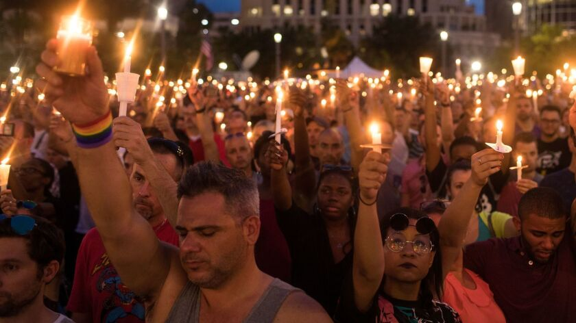 A memorial service for the victims of the Pulse Nightclub shooting in Orlando, Fla..