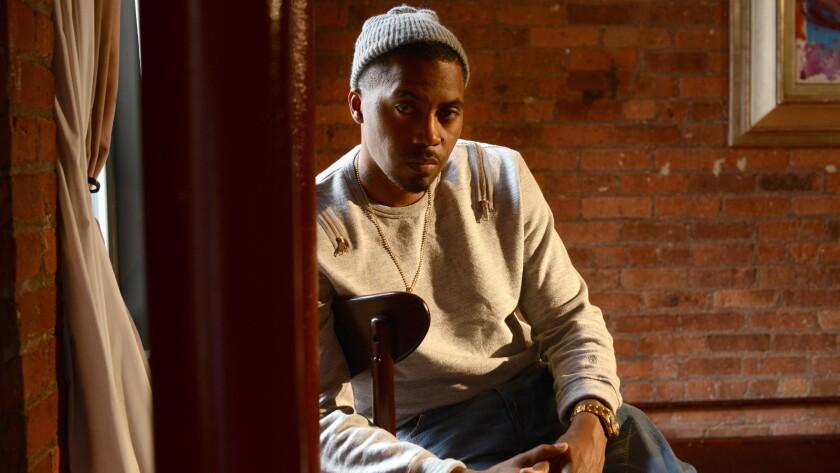 Rapper Nas at Tribeca Film Center in Manhattan, NY.