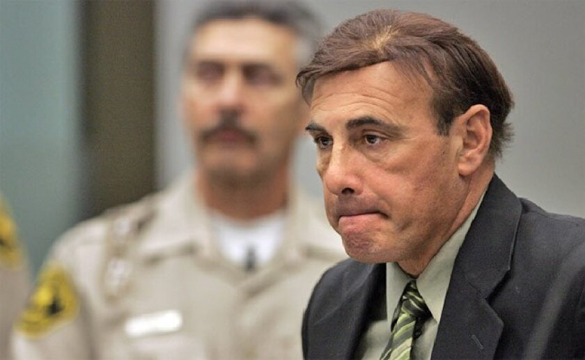 Former California Highway Patrol Officer Abram Carabajal was  arraigned yesterday in Vista. He is accused of fixing a woman's  traffic ticket in exchange for sex. (John Gastaldo / Union-Tribune)
