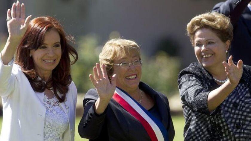 América Latina está a punto de volver a una situación que le era ajena desde hace más de una década: todos los países de la región estarán en breve presididos por hombres.