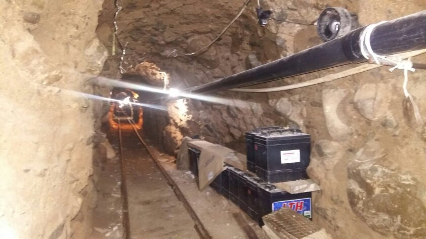 Drug tunnel discovered west of Otay Mesa border crossing on Wednesday.
