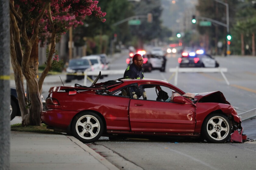 Double fatality accident in La Verne