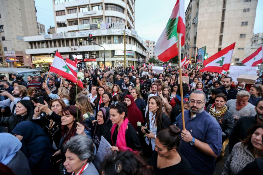 Christians and Shiite protest in Lebanon, Beirut