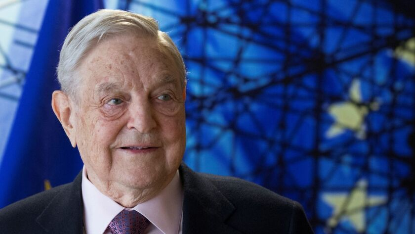 This file photo taken on April 27, 2017 shows George Soros, founder and chairman of the Open Society Foundations, arriving for a meeting in Brussels.