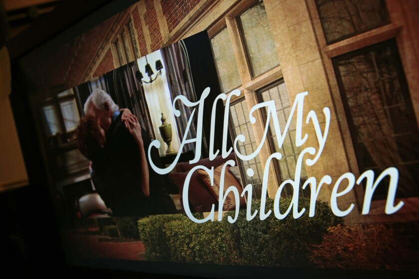 """Prospect Park Networks on Monday filed for Chapter 11 bankruptcy protection. The company briefly brought back to life two long-running ABC soaps, """"All My Children,"""" and """"One Life to Live."""" Above, in the editing office in the Stamford, Conn., studio."""