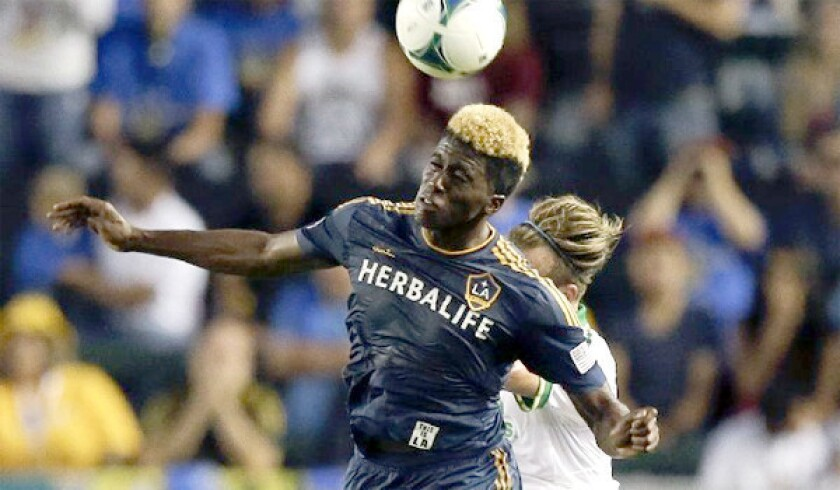 Rookie forward Gyasi Zardes has started six games for the Galaxy in which he's put up 25 shots and netted two goals for L.A.