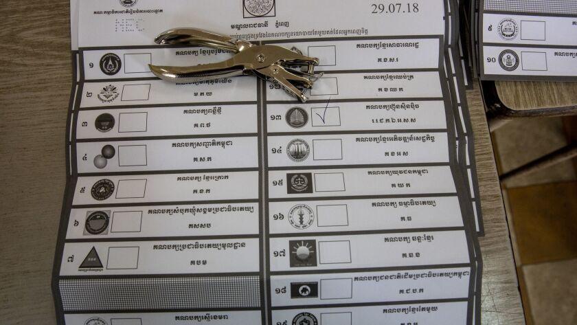 Cambodia General Election 2018