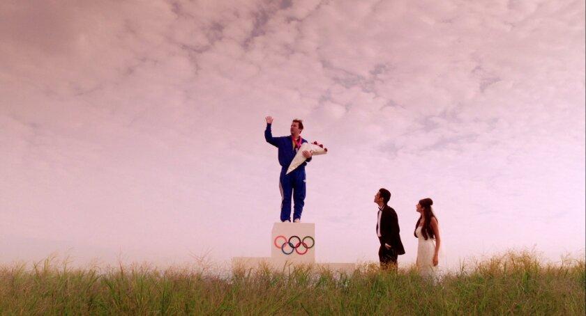 "In his ""Sleepwalk With Me"" dreams, Mike Pandamiglio (Birbiglia) wins Olympic gold. In reality, he's walking in his sleep to teetering heights. Adam Beckman"