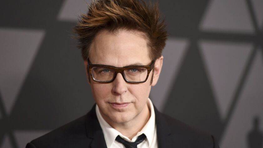 """Filmmaker James Gunn has been fired as director of """"Guardians of the Galaxy"""" because of old tweets that recently emerged in which he joked about subjects such as pedophilia and rape."""