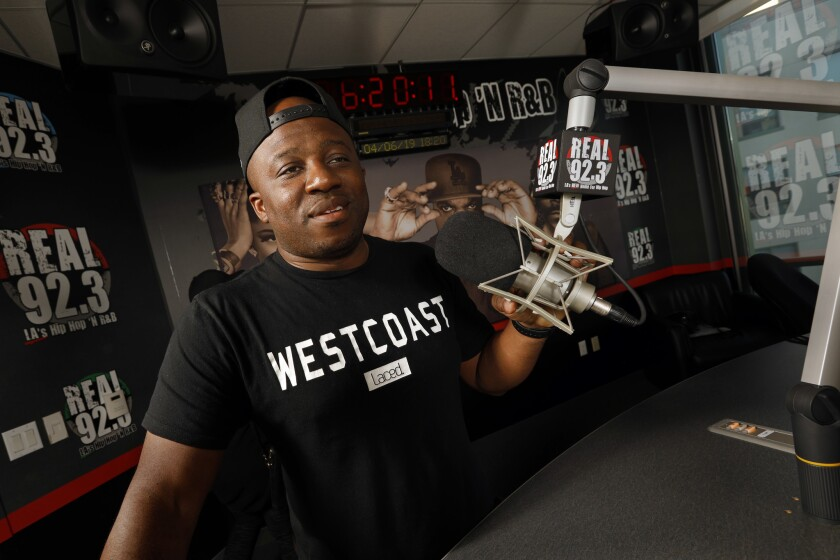 BURBANK, CALIFORNIA--APRIL 6, 2019--DJ Hed is half of the team of Home Grown Radio. Charles Dorsey,