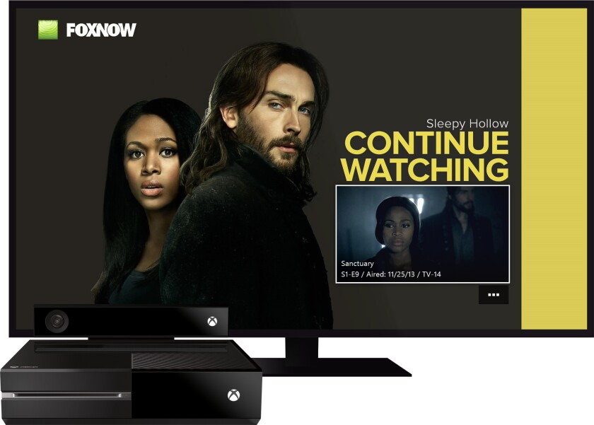 """Fox will make current prime-time shows, including """"Sleepy Hollow,""""available for streaming on Microsoft's Xbox One game console, through the Fox Now app."""