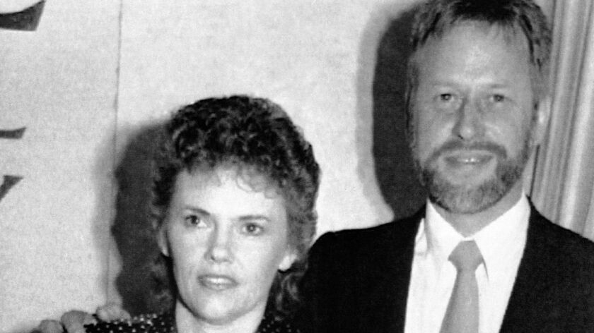 Michael Chamberlain and then-wife Lindy appear in 1990 when Lindy launched her book on the 1980 disappearance of their baby daughter, Azaria.
