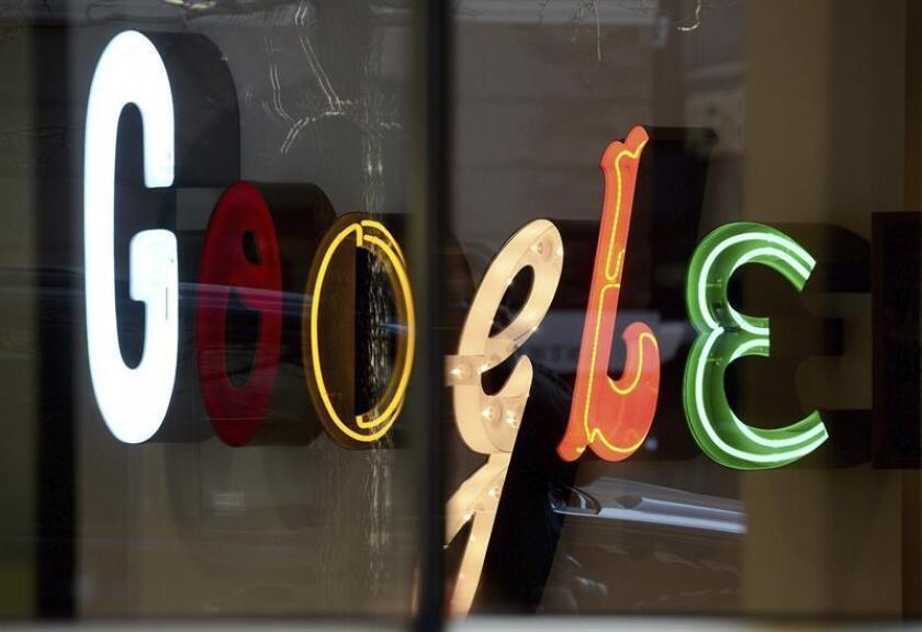 Foto de archivo del logo de Google en sus oficinas en Nueva York (Estados Unidos). EFE/Archivo