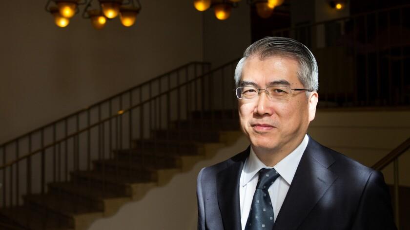La PeiKang, chairman of the China Film Group, poses for a portrait on Nov. 3, 2014.