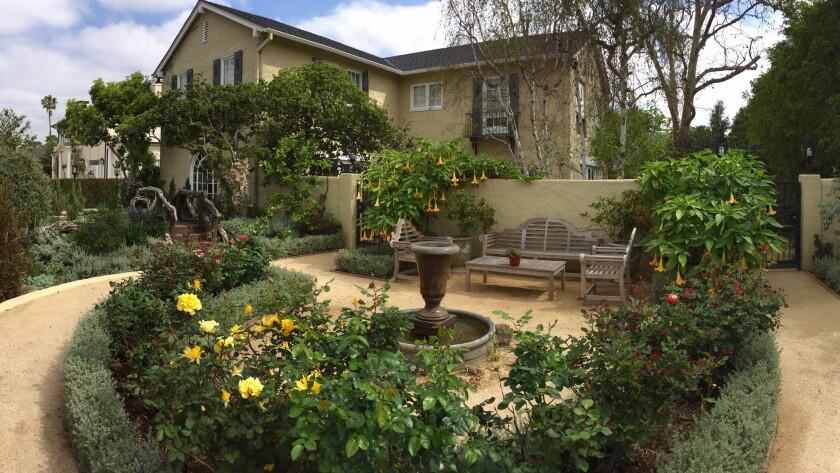 David Zabel's Hancock Park home after garden makeover by Landscape Designer Nick Dean.