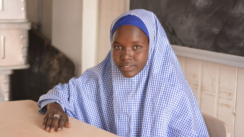 Falmata Usman saw her brother killed by Boko Haram fighters. At 16, she has completed junior high school at a UNICEF-supported school in a displaced persons camp.