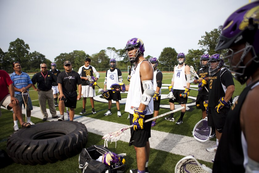 Iroquois Nationals during a practice session in Staten Island, N.Y., in 2010