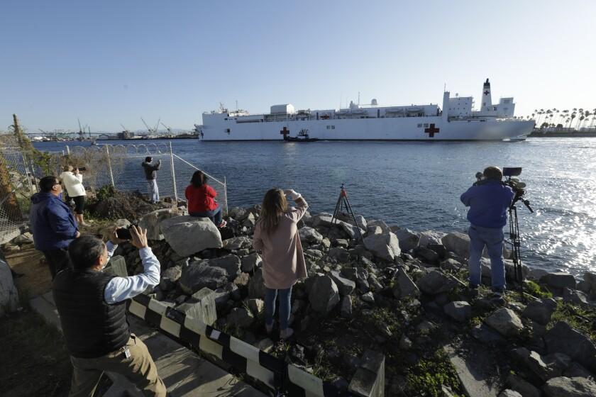 USNS Mercy hospital ship in San Pedro