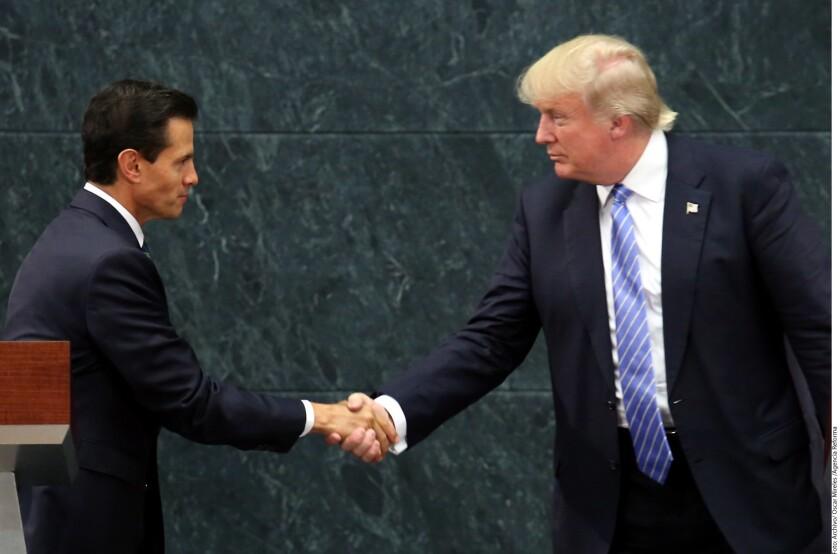 La renegociación sobre el Tratado de Libre Comercio de América del Norte (TLC) iniciar· con las próximas visitas de los Mandatarios de México y Canadá· a la Casa Blanca, aseguró ayer el Presidente de Estados Unidos, Donald Trump.