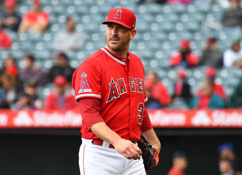 The Angels designated right-handed pitcher Matt Harvey for assignment Friday.