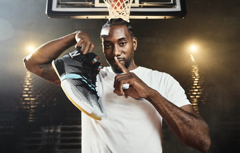 Clippers star Kawhi Leonard signed an endorsement deal with New Balance before he led Toronto to its first NBA championship last season.