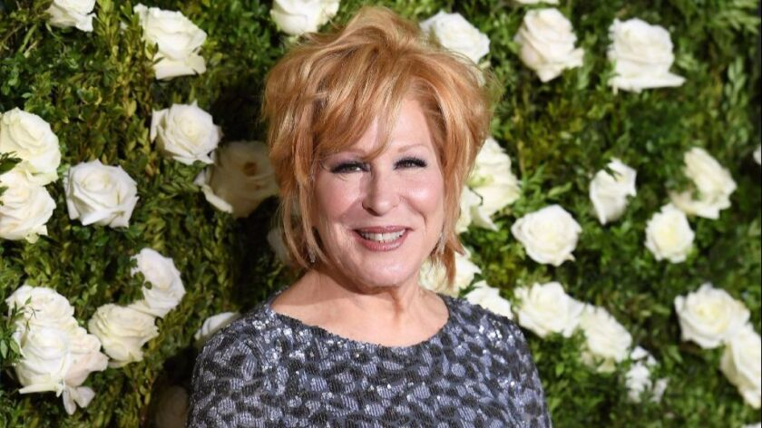 Bette Midler on the red carpet at the Tony Awards in New York City Sunday night.