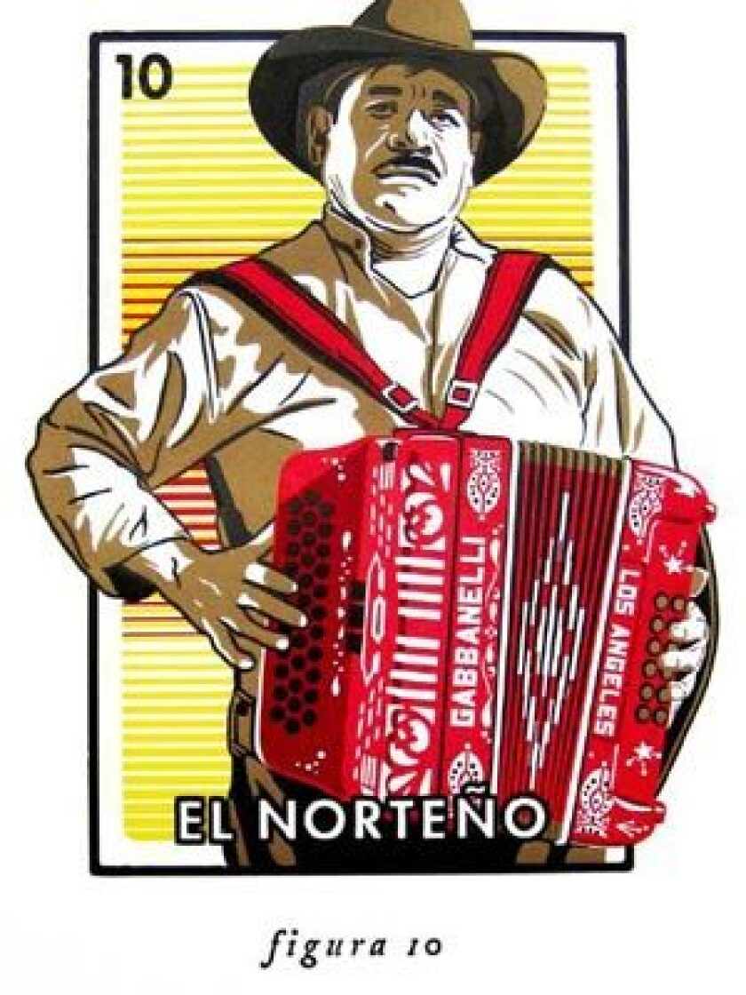 In celebration of its 40th anniversary, Aardvark Letterpress has commissioned 18 local artists to create images based on the Mexican card game, Loteria -- but with an L.A. twist. This piece is by artist Ernesto Yerena.