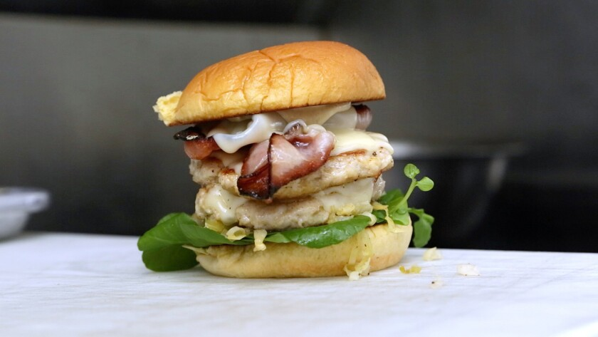 Curtis Stone will be making the Gwen chicken burger as a collaboration with NoMad food truck in March.