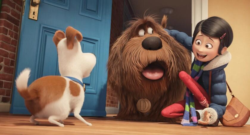 """Una escena de """"The Secret Life of Pets"""", la nueva cinta animada que retrata las vivencias de unas mascotas del hogar con muchos toques humorísticos."""