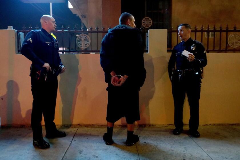 LOS ANGELES, CALIF. -- FRIDAY, MARCH 15, 2019: Los Angeles Police Department Metropolitan Division o