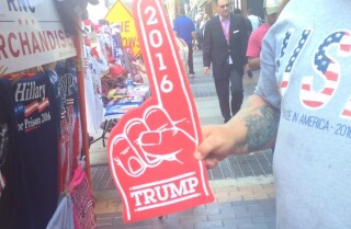 A look at the Trump merchandise at the Republican convention
