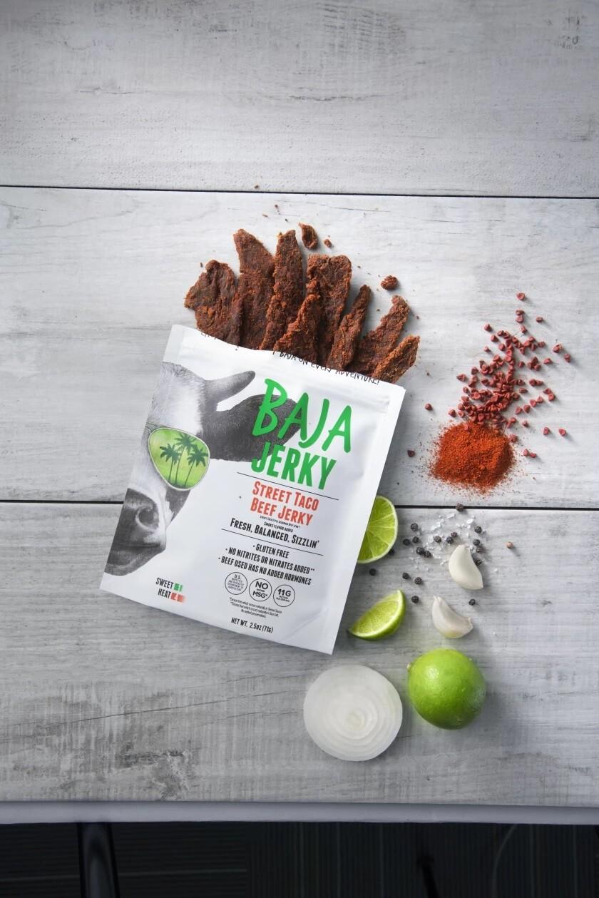 Baja Jerky's new Street Taco flavor.
