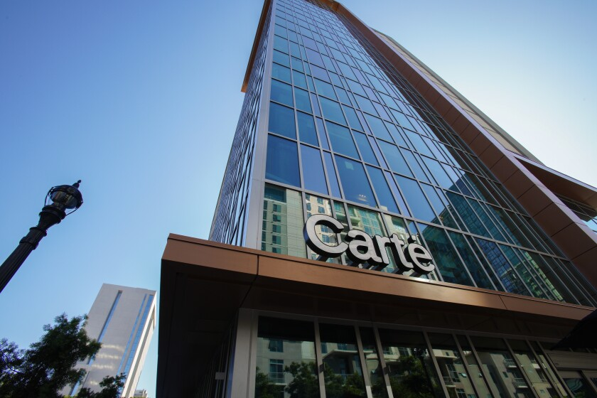 The new Carte Hotel in Little Italy opened in September of 2019.